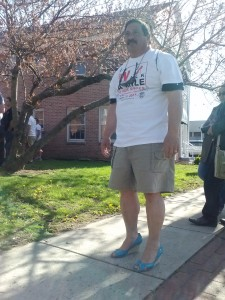 "Many men got into the spirit and really walked the whole time in ""her shoes"""