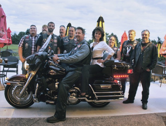 Casey Morley and Bikers Against Child Abuse join forces to combat domestic violence.